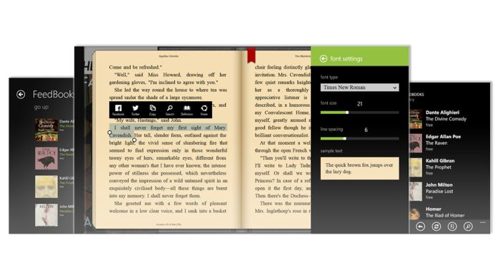 Quick Look at Bookviser – A Great eBook Reader for Windows Devices