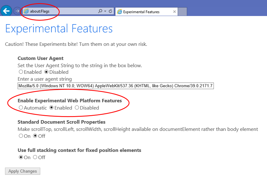 How to Enable New Rendering Engine for IE 11 (a k a  Sneak Peek on