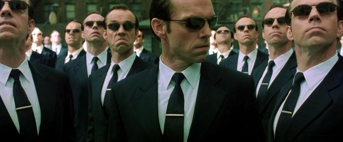 Me, me me. Me too. -Agent Smith